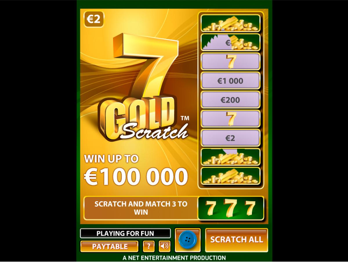 7 gold scratch netent