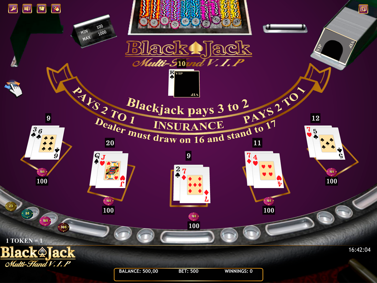 blackjack multihand vip isoftbet