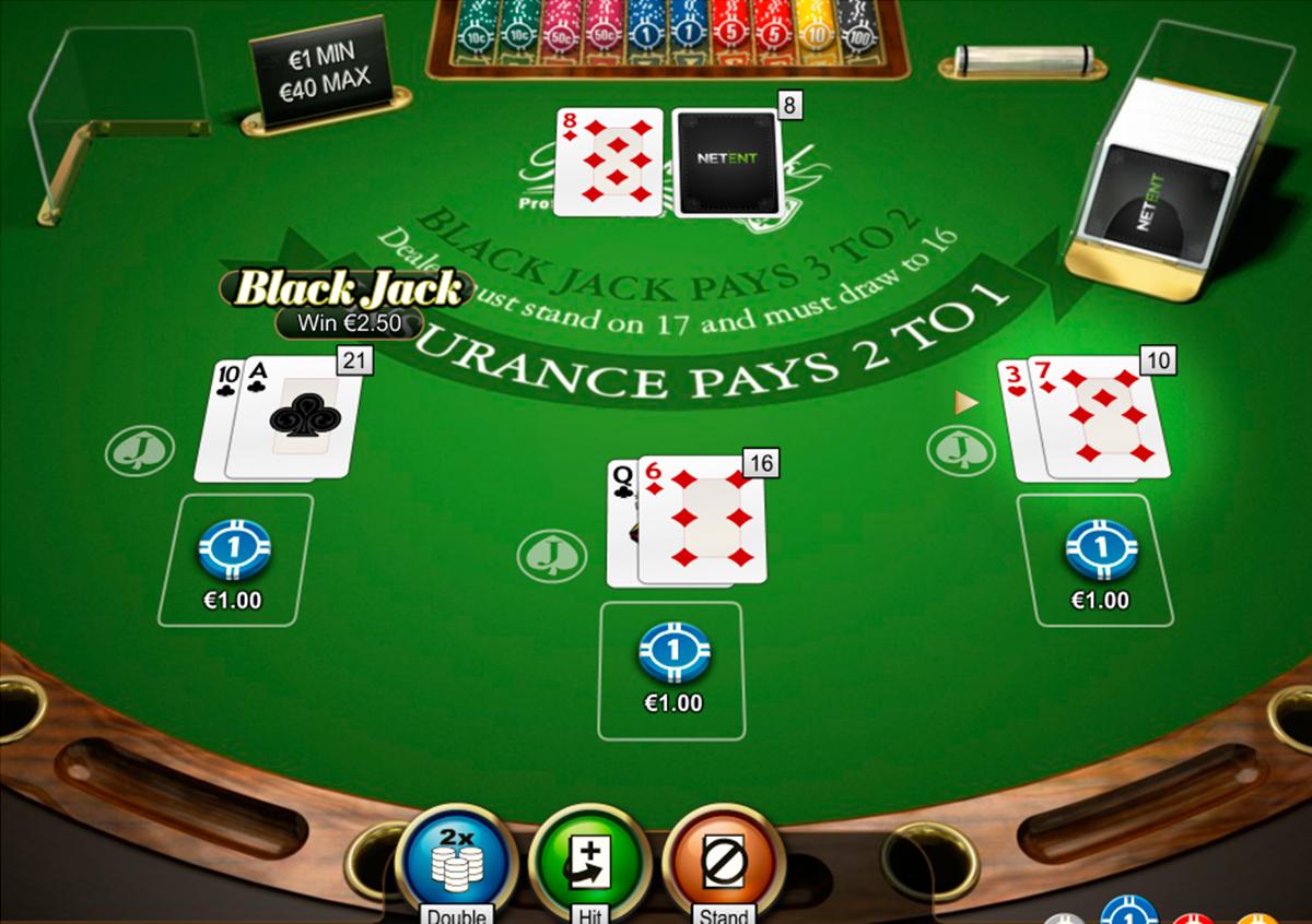 double xposure blackjack professional series netent