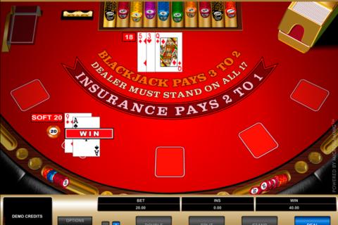 european blackjack microgaming