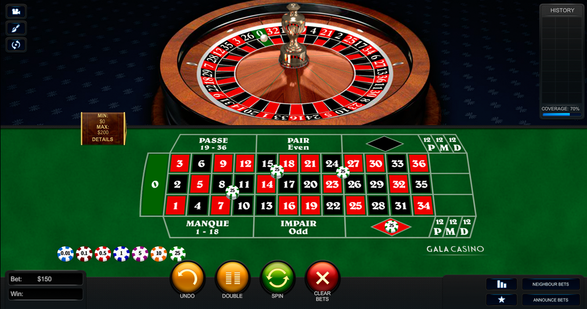 premium french roulette playtech