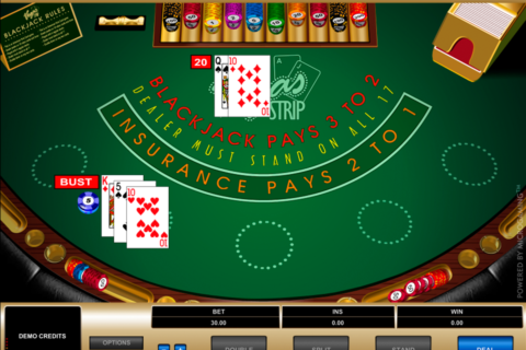 vegas strip blackjack microgaming